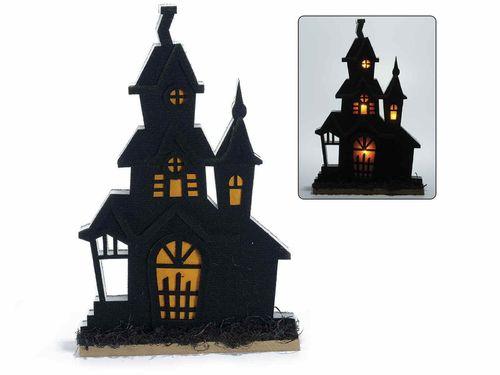 Decorazioni In Legno Per La Casa : Casa stregata decorazione di halloween in panno con base in legno
